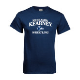 Navy T Shirt-Wrestling
