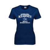 Ladies Navy T Shirt-Mens Basketball