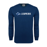 Navy Long Sleeve T Shirt-Lopers Flat