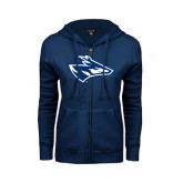 ENZA Ladies Navy Fleece Full Zip Hoodie-Loper Head