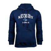 Navy Fleece Hoodie-Stacked Word Mark