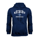 Navy Fleece Hoodie-Football