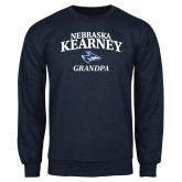 Navy Fleece Crew-Grandpa