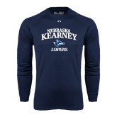 Under Armour Navy Long Sleeve Tech Tee-Stacked Word Mark