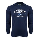 Under Armour Navy Long Sleeve Tech Tee-Track & Field
