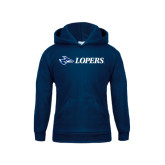 Youth Navy Fleece Hoodie-Lopers Flat