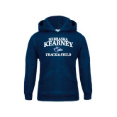 Youth Navy Fleece Hoodie-Track & Field
