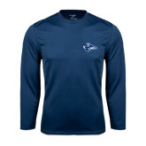 Performance Navy Longsleeve Shirt-Loper Head
