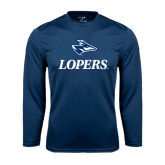 Syntrel Performance Navy Longsleeve Shirt-Head over Lopers