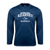 Performance Navy Longsleeve Shirt-Baseball