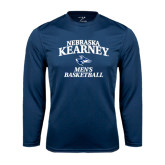 Performance Navy Longsleeve Shirt-Mens Basketball