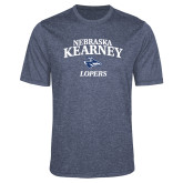 Performance Navy Heather Contender Tee-Stacked Word Mark