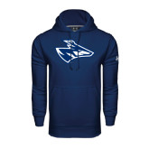 Under Armour Navy Performance Sweats Team Hoodie-Loper Head