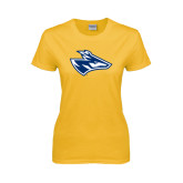 Ladies Gold T Shirt-Loper Head