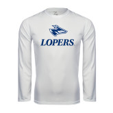 Syntrel Performance White Longsleeve Shirt-Head over Lopers