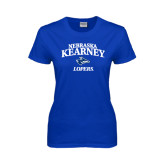 Ladies Royal T Shirt-Stacked Word Mark