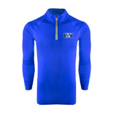 Under Armour Royal Tech 1/4 Zip Performance Shirt-Official Logo