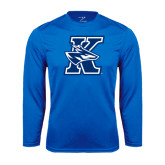 Performance Royal Longsleeve Shirt-K Logo