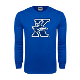 Royal Long Sleeve T Shirt-K Logo