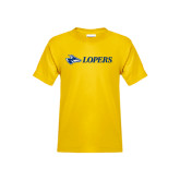 Youth Gold T Shirt-Lopers Flat