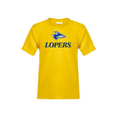 Youth Gold T Shirt-Head over Lopers