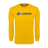 Gold Long Sleeve T Shirt-Lopers Flat