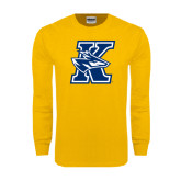 Gold Long Sleeve T Shirt-K Logo