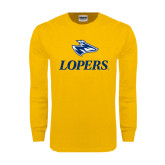 Gold Long Sleeve T Shirt-Head over Lopers