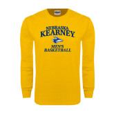 Gold Long Sleeve T Shirt-Mens Basketball