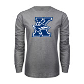 Grey Long Sleeve T Shirt-K Logo