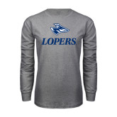 Grey Long Sleeve T Shirt-Head over Lopers