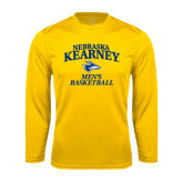Performance Gold Longsleeve Shirt-Mens Basketball
