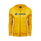 ENZA Ladies Gold Fleece Full Zip Hoodie-Lopers Flat