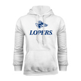 White Fleece Hoodie-Head over Lopers