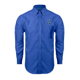 Mens Royal Oxford Long Sleeve Shirt-K Logo