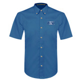 Royal Twill Button Down Short Sleeve-Official Logo