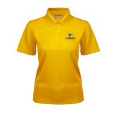 Ladies Gold Dry Mesh Polo-Head over Lopers
