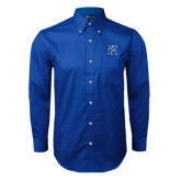 Royal Twill Button Down Long Sleeve-K Logo