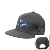 Charcoal Flat Bill Snapback Hat-Loper Head