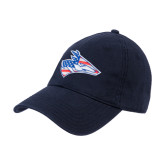 Navy Twill Unstructured Low Profile Hat-American Flag Loper Head