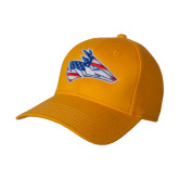 Gold Heavyweight Twill Pro Style Hat-American Flag Loper Head