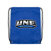 Royal Drawstring Backpack-UNE Nor Easters
