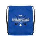 Royal Drawstring Backpack-2017 Field Hockey Champions