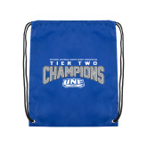 Royal Drawstring Backpack-Tier Two Champions - Rugby 2017