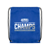 Royal Drawstring Backpack-2017 Womens Cross Country Champions