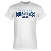 White T Shirt-Tier Two Champions - Rugby 2017
