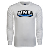White Long Sleeve T Shirt-UNE Nor Easters