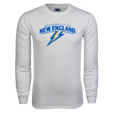 White Long Sleeve T Shirt-University of New England