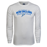 White Long Sleeve T Shirt-University of New England Nor Easters