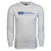 White Long Sleeve T Shirt-University Mark Flat